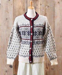 古着ノルディック ニット カーディガン メタルボタン|Nordic Knit Cardigan Metal Button  古着のネット通販 古着屋グレープフルーツムーン