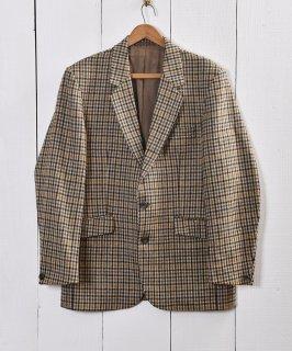 古着スコットランドウール ツイード テーラードジャケット|Wool Tweed Tailored Jacket  古着のネット通販 古着屋グレープフルーツムーン