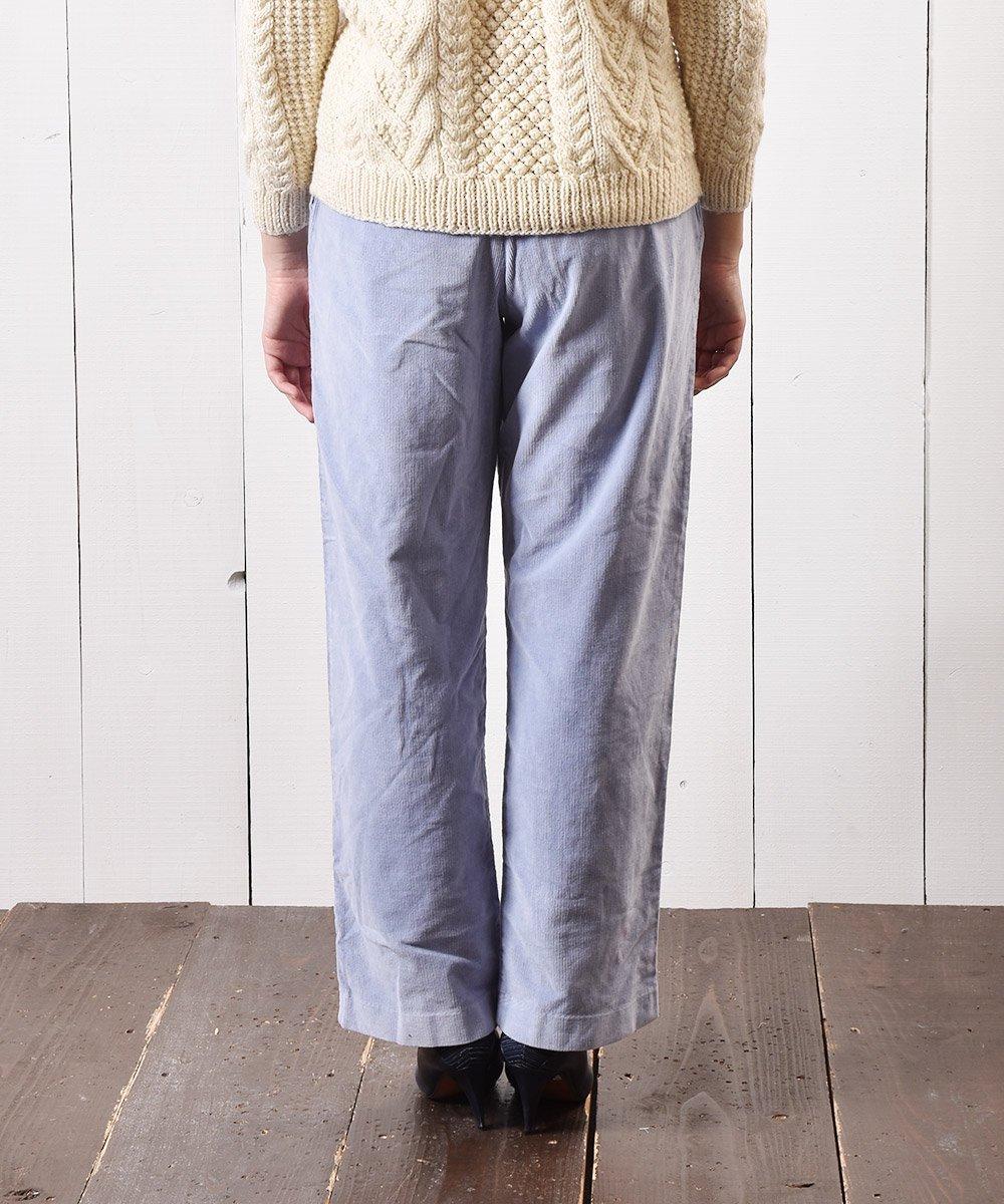 コーデュロイ イージーパンツ 無地 サックスブルー|Easy Pants Plain Corduroy Sax-blueサムネイル