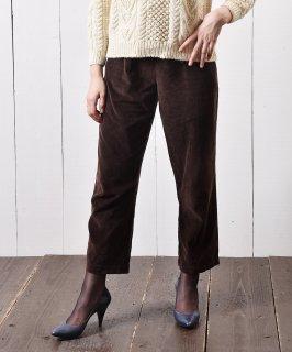 古着コーデュロイ イージーパンツ 無地 ブラウン|Easy Pants Plain Corduroy Brown 古着のネット通販 古着屋グレープフルーツムーン