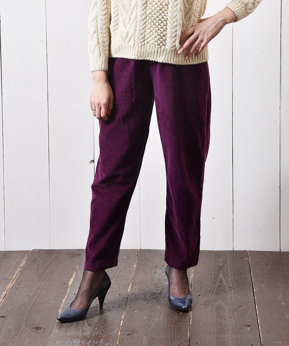 古着 コーデュロイ イージーパンツ 無地 パープル|Easy Pants Corduroy Plain  Purple 古着 ネット 通販 古着屋グレープフルーツムーン