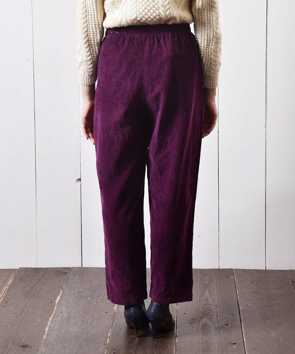 コーデュロイ イージーパンツ 無地 パープル|Easy Pants Corduroy Plain  Purpleサムネイル