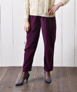 古着コーデュロイ イージーパンツ 無地 パープル|Easy Pants Corduroy Plain  Purple 古着のネット通販 古着屋グレープフルーツムーン