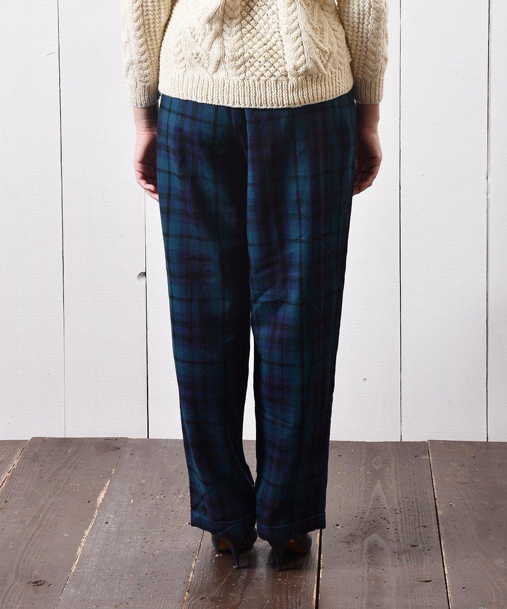 アメリカ製 ウールパンツ ブラックウォッチ Made in USA Wool Pants Black-watch サムネイル