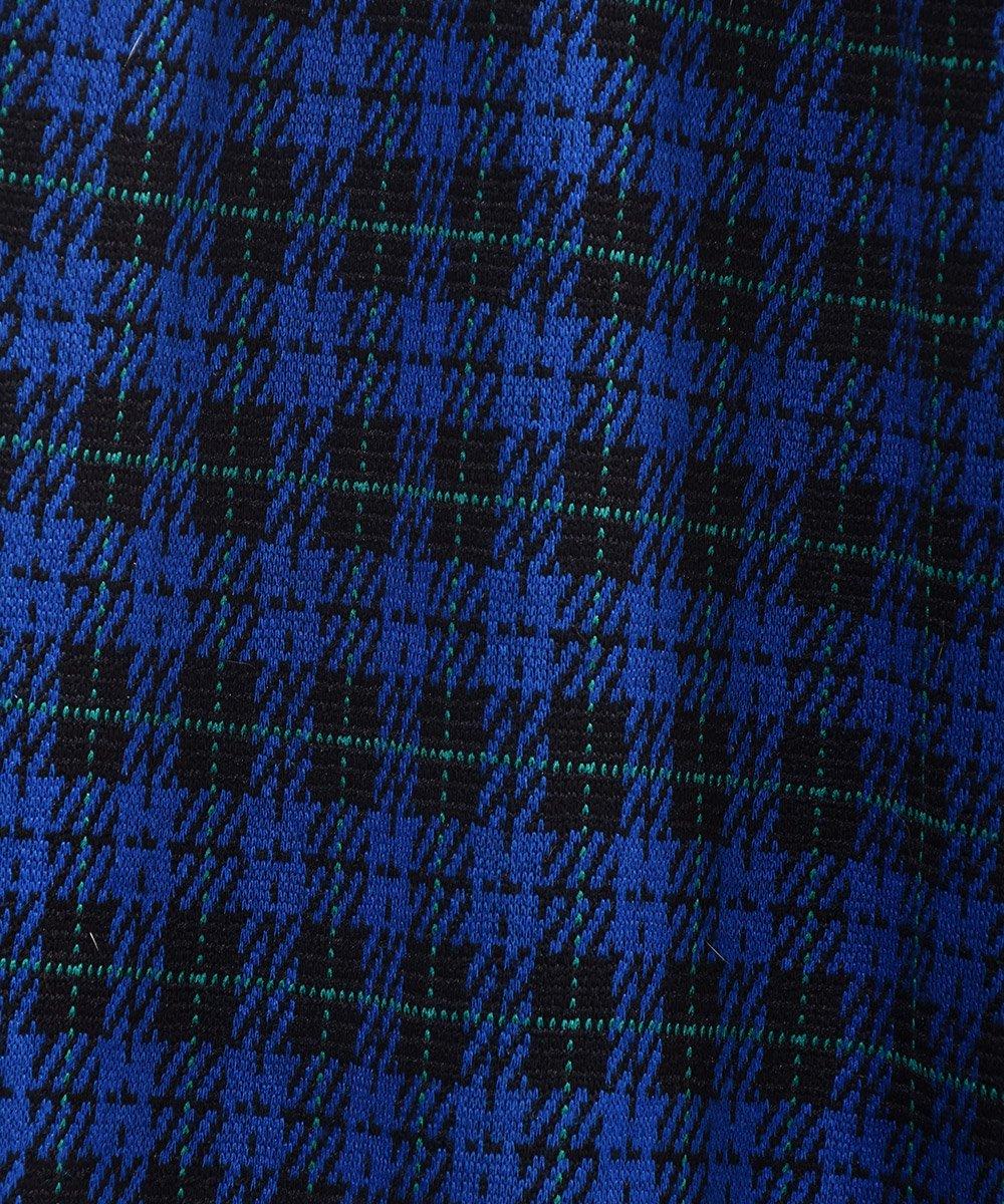 ブルー×ブラック チェック柄 イージーパンツ|Blue ×Black Check Pattern Easy Pants サムネイル