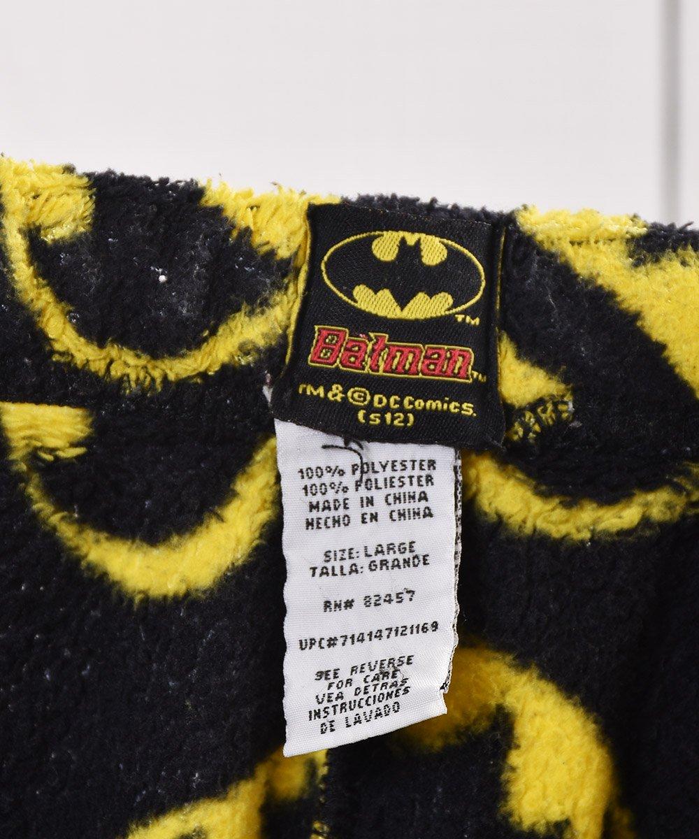 「Batman」 総柄 フリース イージーパンツ 