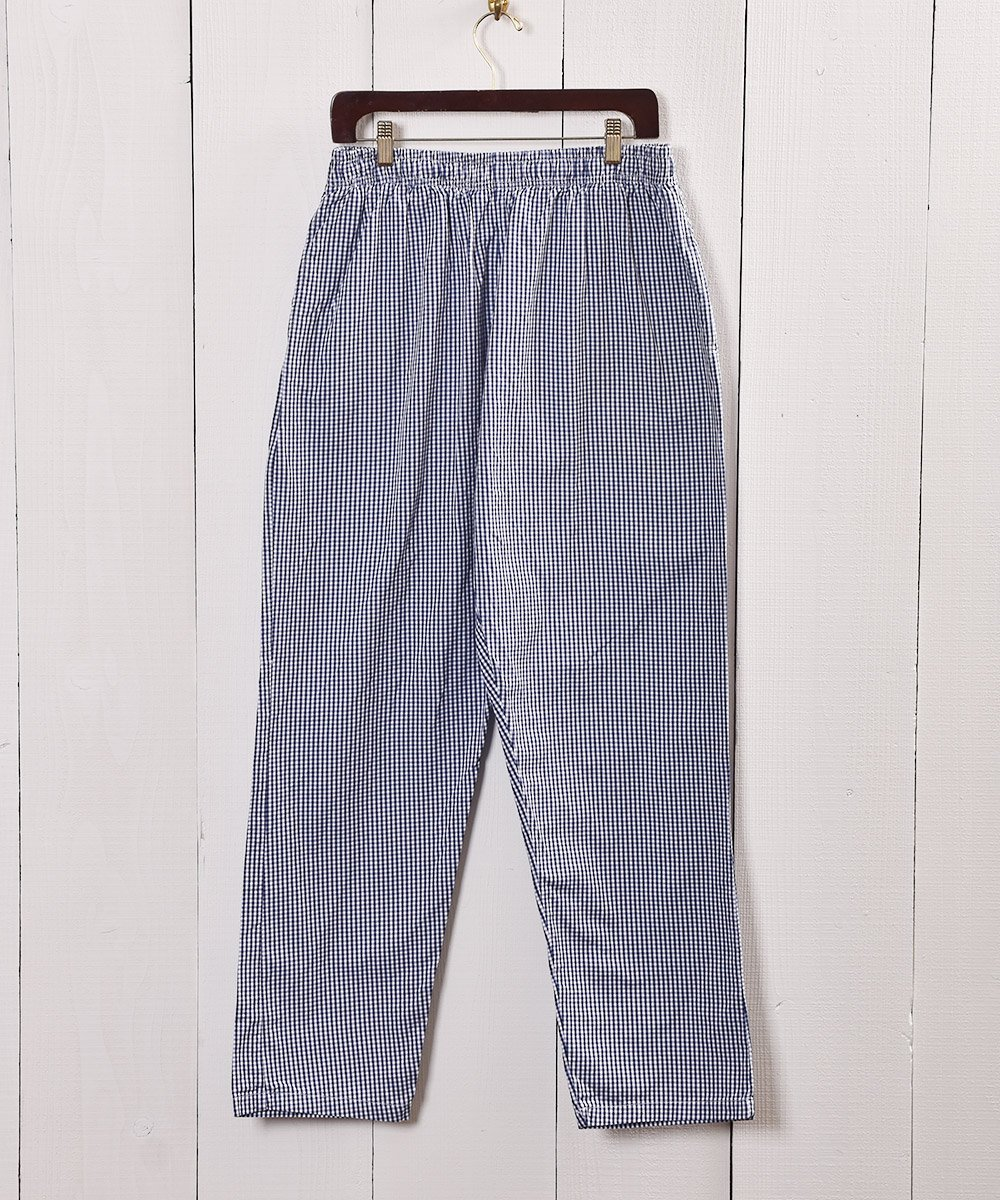 古着 ギンガムチェック コック パンツ|Navy Gingham Check Army Cock Pants 古着 ネット 通販 古着屋グレープフルーツムーン