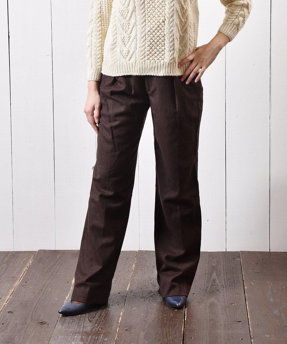 古着 ウール タックパンツ|Wool Tuck Pants 古着 ネット 通販 古着屋グレープフルーツムーン