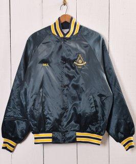 古着アメリカ製 ブルゾン ラメ刺繍ジャケット |Made in USA Blouson Jacket Embroidered Lame 古着のネット通販 古着屋グレープフルーツムーン