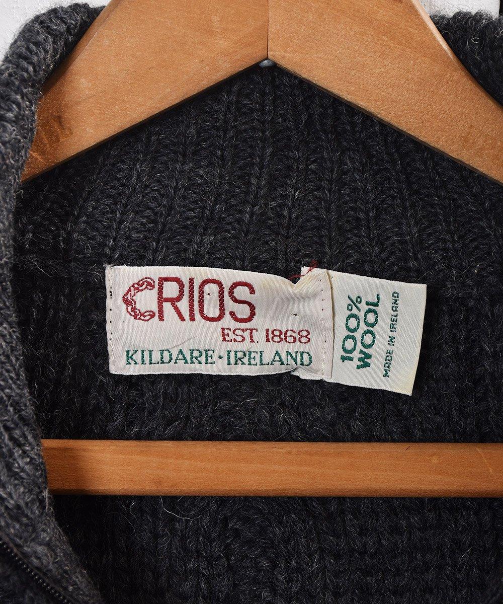 アイルランド製  ケーブルニット ジップセーター Made in Ireland Cable Knit Zip-sweater  サムネイル