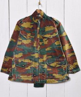 古着ベルギー軍 空挺部隊 プルオーバー 迷彩ジャケット|Belgian-army Paratroopers Pullover camouflage Jacket 古着のネット通販 古着屋グレープフルーツムーン