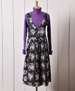 古着アメリカ製 花柄 ノースリーブ プリーツワンピース 古着のネット通販 古着屋グレープフルーツムーン