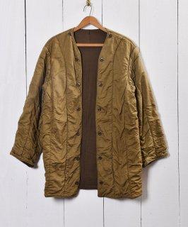 古着1961年製 チェコ軍 キルティングライナー ロングタイプヴィンテージユーロミリタリー 古着のネット通販 古着屋グレープフルーツムーン