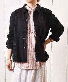 古着ユーロ ワークジャケット 無地 ブラック 古着のネット通販 古着屋グレープフルーツムーン