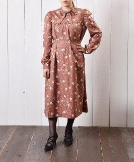 古着花柄ワンピース リボンタイ 古着のネット通販 古着屋グレープフルーツムーン