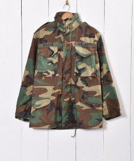 古着アメリカ製 アメリカ軍 フィールドジャケット ウッドランドカモ 古着のネット通販 古着屋グレープフルーツムーン