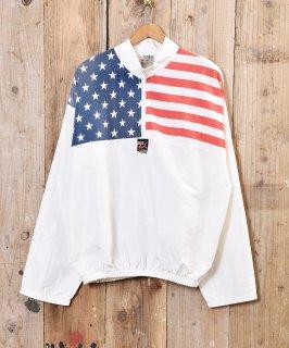 古着アメリカ製 ナイロンジャケット USA国旗 古着のネット通販 古着屋グレープフルーツムーン