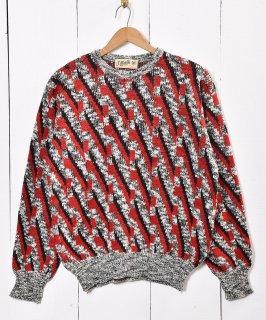 古着イタリア製 総柄ニットセーター 古着のネット通販 古着屋グレープフルーツムーン