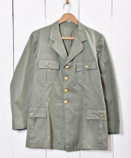 古着ミリタリー オフィサー風 金ボタンブレザー・ジャケット 古着のネット通販 古着屋グレープフルーツムーン