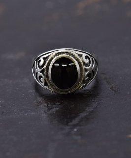 古着シルバーリング ブラックオニキス|Silver Ring Black Celtic 古着のネット通販 古着屋グレープフルーツムーン