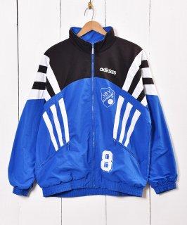 古着adidas ナイロンジャケット スタンドカラ— 古着のネット通販 古着屋グレープフルーツムーン