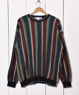 古着マルチデザイン ニットセーター 古着のネット通販 古着屋グレープフルーツムーン