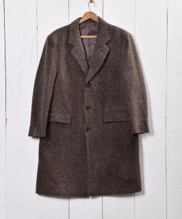 古着ウールチェスターコート ブラウン イタリア・ヨーロッパ 古着のネット通販 古着屋グレープフルーツムーン