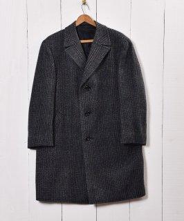 古着フィッシュマウスラペル仕様 ウールコート ミックスカラー 古着のネット通販 古着屋グレープフルーツムーン