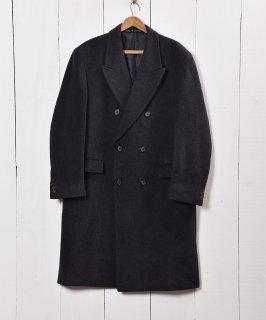 古着イングランド製 カシミア混 ウールコート ダブルブレステッド仕様 古着のネット通販 古着屋グレープフルーツムーン