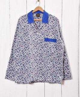古着イギリス製 ペイズリー柄 パジャマシャツ  古着のネット通販 古着屋グレープフルーツムーン