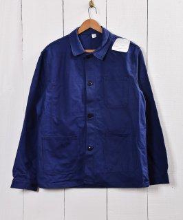 古着フランス製 デッドストック コットンツイル ワークジャケット 古着のネット通販 古着屋グレープフルーツムーン