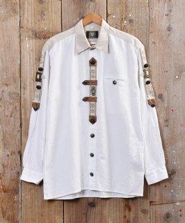 古着メタルボタン&刺繍 チロルシャツ ヨーロッパ製  古着のネット通販 古着屋グレープフルーツムーン