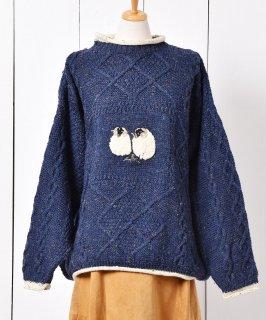 古着ヨーロッパ製 羊 アンゴラニットセーター 古着のネット通販 古着屋グレープフルーツムーン