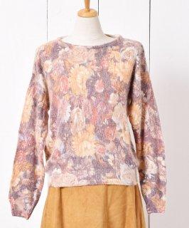 古着アンゴラ&シルク 花柄 ニットセーター 古着のネット通販 古着屋グレープフルーツムーン