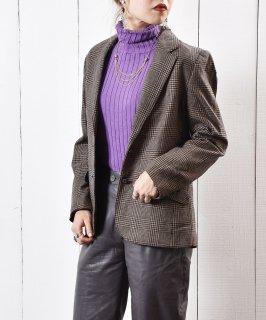 古着グレンチェック テーラード ジャケット 古着のネット通販 古着屋グレープフルーツムーン
