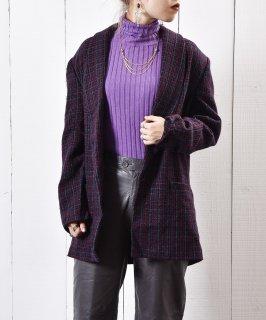 古着ツイード チェック テーラード ジャケット 古着のネット通販 古着屋グレープフルーツムーン