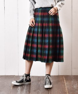 古着チェック プリーツスカート 古着のネット通販 古着屋グレープフルーツムーン