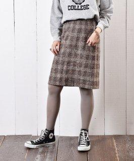 古着ツイード チェック柄 タイトスカート 古着のネット通販 古着屋グレープフルーツムーン