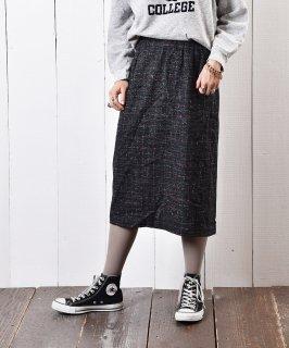 古着ウール チェック柄 タイトスカート 古着のネット通販 古着屋グレープフルーツムーン