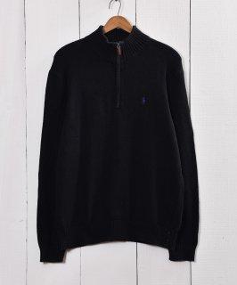 古着Polo by Ralph Lauren ZIPニット セーター ブラック 古着のネット通販 古着屋グレープフルーツムーン