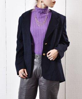 古着イングランド製 ネイビー テーラード ジャケット 古着のネット通販 古着屋グレープフルーツムーン