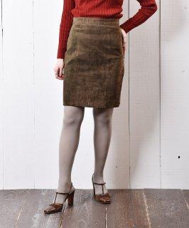古着オリーブカラー レザー タイトスカート 古着のネット通販 古着屋グレープフルーツムーン