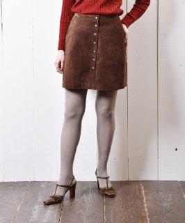 古着カナダ製 ショート レザースカート 古着のネット通販 古着屋グレープフルーツムーン