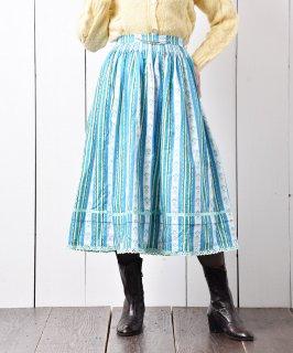 古着ヨーロッパ製 チャーム付き チロルスカート ミント 古着のネット通販 古着屋グレープフルーツムーン