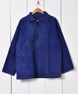 古着60年代〜 フランス製 ヴィンテージ ワークジャケット プルオーバータイプ  古着のネット通販 古着屋グレープフルーツムーン