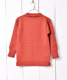 古着イギリス製 ガーンジーセーター フィッシャーマンセーター レッド系 古着のネット通販 古着屋グレープフルーツムーン