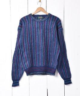 古着マルチカラー クルーネックセーター 古着のネット通販 古着屋グレープフルーツムーン