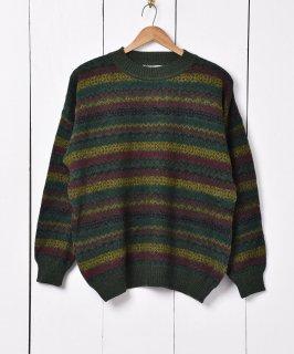古着イタリア製 クルーネック フェアアイル クルーネックセーター 古着のネット通販 古着屋グレープフルーツムーン