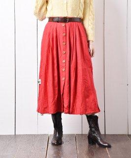 古着ヨーロッパ製 プリントデザイン チロルスカート 古着のネット通販 古着屋グレープフルーツムーン