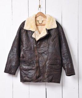 古着ムートンジャケット ブラウン ウルグアイ製 古着のネット通販 古着屋グレープフルーツムーン
